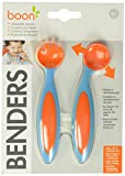 Boon Benders Adaptable Utensils, Blue Raspberry/Tangerine