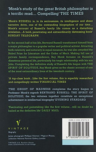 Bertrand Russell Vol II: 1921-70 The Ghost of Madness v. 2