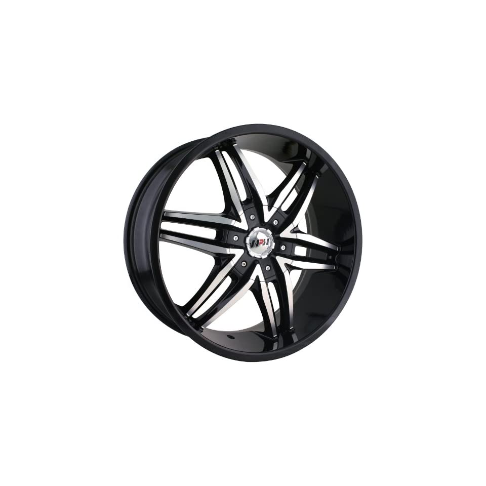 MPW MP208 22x9.5 Black Wheel / Rim 6x135 & 6x5.5 with a 30mm Offset and a 87.00 Hub Bore. Partnumber MP208 22937B