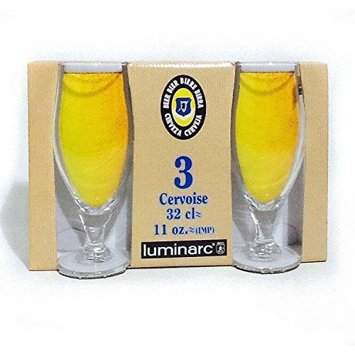 ARC - Verres à bière x 3 CERVOISE 32 CL luminarc *