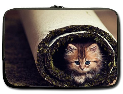 Cute Funny Cat 11 Inch Laptop Sleeve Bag For Laptop / Notebook / Ultrabook / Macbook front-600078