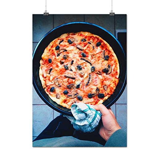 Délicieux Pizza Repas Chef Art Matte/Glacé Affiche A2 (60cm x 42cm) | Wellcoda