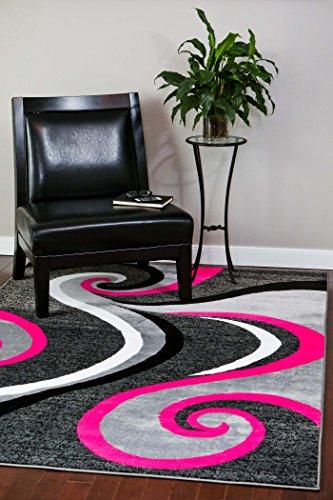 0327 Pink 5'2x7'2 Area Rug Carpet Large New