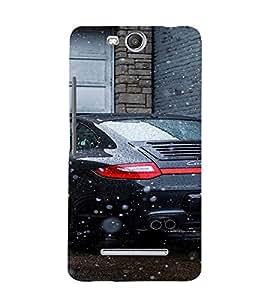 EPICCASE Porsche Car Mobile Back Case Cover For Micromax Canvas Juice 3 Q392 (Designer Case)