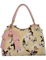 Gouribags PU Handbag (Off-White) - B01BPDE2WM