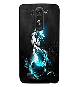 ColourCraft Lightening Dragon Design Back Case Cover for LG G3 BEAT