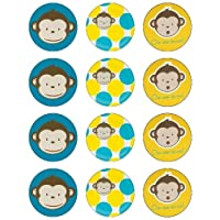 Monkey Edible Image Cupcake Toppers