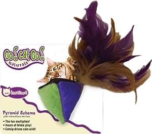 Amazon.com : OurPets Pirámide con plumas, juguete del gato Natural