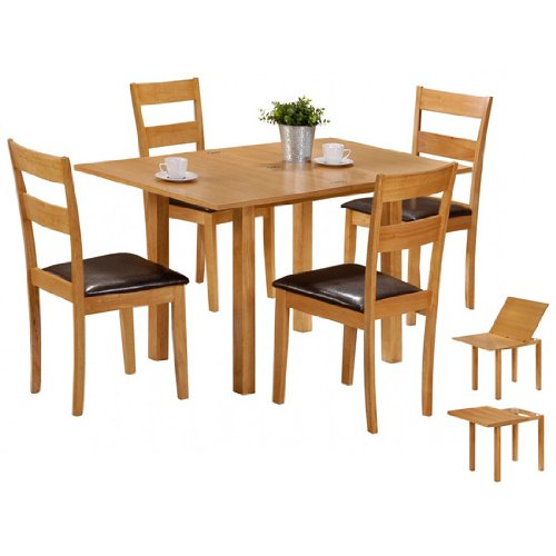Colorado Extending Dining Table With 4 Chairs