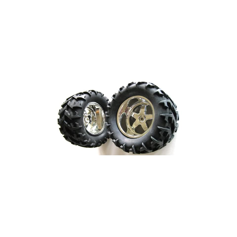 T/E Maxx, Savage, Revo 2.5, Large Tire Rim Package Deal Toys & Games