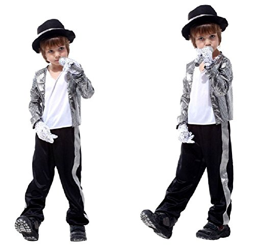 Ponce Halloween Children'S Stage Performance Michael Jackson Clothes