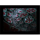 MLH  Handicraft Gift Set 3D Flowers With UV Print Canvas Painting