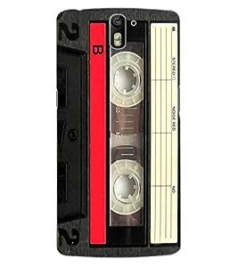 ColourCraft Retro Audio Cassette Design Back Case Cover for OnePlus One