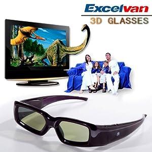 Excelvan Active Shutter 3D Glasses For Panasonic TY-EW3D3MU TYEW3D3MU