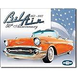 Chevrolet Chevy Bel Air 50th Anniversary 1957-2007 Retro Vintage Tin Sign