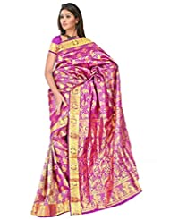 Sehgall Saree Indian Bollywood Designer Ethnic Professional Handloom Silk Sarees Purple - B00OLQ49EW