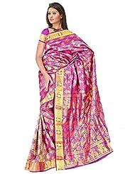 Sehgall Saree Indian Bollywood Designer Ethnic Professional Handloom Silk Sarees Purple - B00OLQ49EW