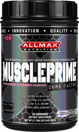 Allmax Nutrition: Muscleprime Pre-Workout Powder For Increased Intensity*Fruit Berry 950G