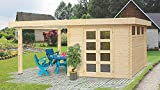 Gartenhaus AI - 28 mm Blockbohlenhaus