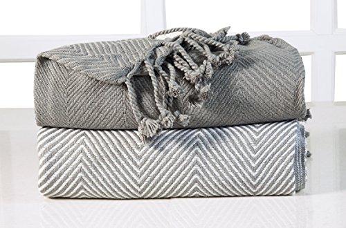 ehc-lujo-chevron-algodon-single-manta-de-sofa-gris-125-x-150-cm-pack-de-2