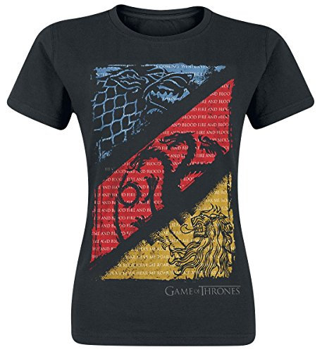 Game Of Thrones Diagonal Sigils Maglia donna nero XXL