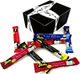 Panda All Natural Licorice 4-Flavor Variety: Two 1.125 oz Bars Each of Black, Blueberry, Raspberry, and Cherry Licorice in a Gift Box