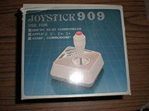 Vintage Joystick Apple II Atari Commodore Joy Stick 909 - Computer 3 Button IBM XT