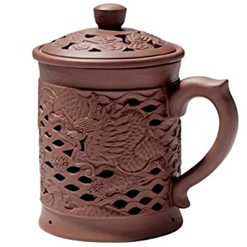 Dragon Covered Yixing Mug
