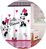 Disney Minnie Mouse Love Hearts Bathroom Shower Curtain