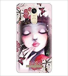 PrintDhaba Cute Girl D-4043 Back Case Cover for XIAOMI REDMI NOTE 3 PRO (Multi-Coloured)