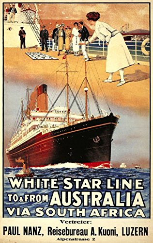 white-star-line-to-from-australia-wonderful-a4-glossy-art-print-taken-from-a-rare-vintage-cruise-lin