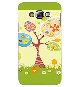 Printdhaba Animated Tree D-2647 Back Case Cover For Samsung Galaxy E7