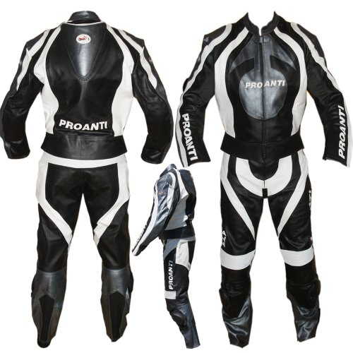 Proanti 2-Piece Motorcycle Leathers Sizes XS - XXXL Size:46 / XS