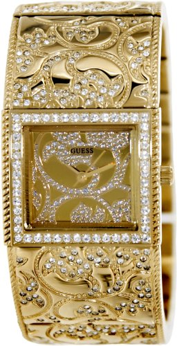 GUESS U0256L2 Women's Gold-Tone Opulence Bangle Watch