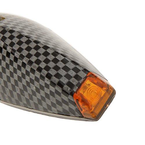 2x Moto Motocicleta Universal De LED Se Encienden Las Luces De Señal Luz Intermitente Indicadora De Color ámbar