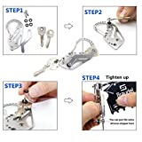 [Christmas Deals for Men]Braudel Keychain Multi-Funtional Tool - Stainless Multitool Keychain,Keychain Clip Quick Release, Wrench Screwdriver Tool - Gift For Men