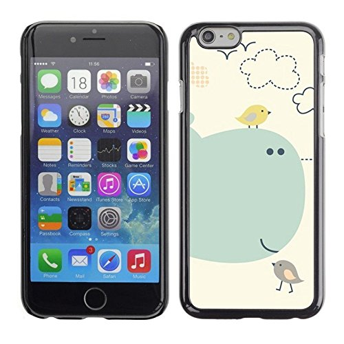 Cartoon Kids Children Whale Sea Birds Phone Case [Customizable by Buyers] [Create Your Own Phone Case] Slim Fitted Hard Protector Cover for iPhone 4 4s
