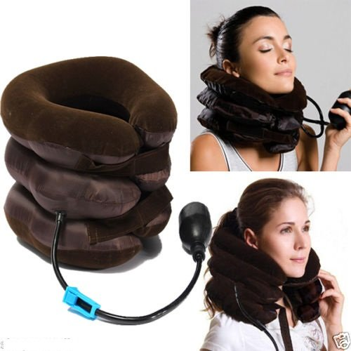 Tractor For Cervical Spine Portable Neck Pillow Three Layers Excerciser