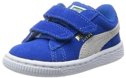 Puma - Scarpe primi passi Suede 2 Straps Kids, Unisex - bambino, Blu (Blau - Bleu (Snorkel Blue/White)), 21