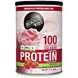 DESIGNER WHEY 100% Premium Whey Protein Powder, Luscious Strawberry, 12 Ounce Canister