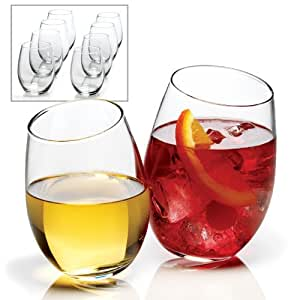 Anchor Hocking 15-Ounce 8-Piece Stemless Wine Glass Set