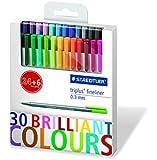 Staedtler Triplus 334 C30P Fine Liner Pens in 30 Colours