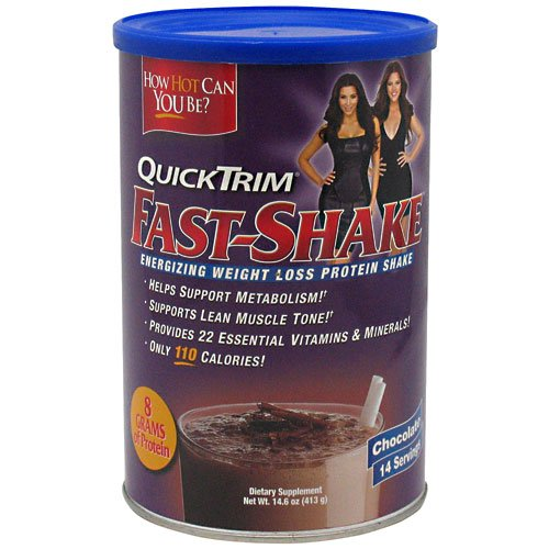 Quick Trim Fast Shake, Chocolate - 14.6 Ounce