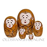Wood Nesting Doll - Monkey