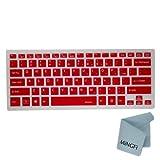 MiNGFiキーボードカバーはSONY VAIO FIT 14 14E 14A series型番のノートパソコンに適用し [US配列] - 半透明 レッド