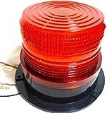 防犯 安全対策 ストロボ LED 回転灯  警告灯 12V 24V 兼用 赤 レッド