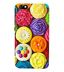 Bright Colourful Cup Cakes 3D Hard Polycarbonate Designer Back Case Cover for Huawei Honor 4X :: Huawei Glory Play 4X