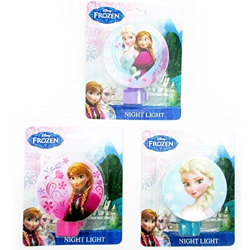 1 Disney Frozen Night Light Elsa Anna Plug In Girls Room Decor Gift Licensed New - 1