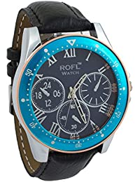 Addic ROFL Black Dial And Blue Bezel With Black Strap Sports Watch For Men