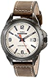 Timex Men's T49909 Expedition Rugged Field Natural Dial Olive Green Leather Strap Watch